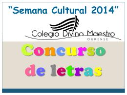 """Semana Cultural 2014"""""""