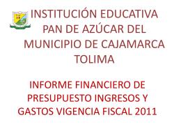 INSTITUCION EDUCATIVA ANAIME DE CAJAMARCA TOLIMA
