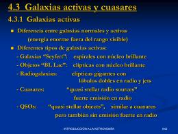 Galaxias activas y cuasares