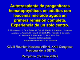 Risk-adapted therapy in APL (Stockholm, August 2005)