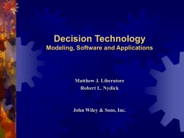 Decision Technology - Villanova University