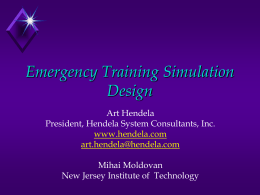 Emergency Training Simulation Design