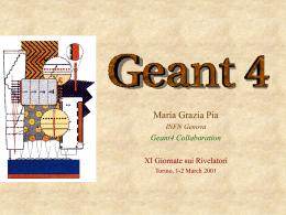 Seminario Geant4 INFN - INFN