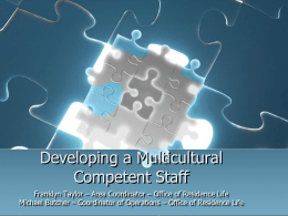 Developing a Multiculturally Competent Staff