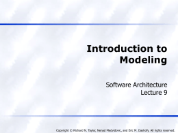 Introduction to Modeling - Philadelphia University