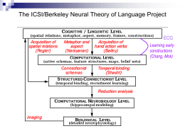 5 levels of Neural Theory of Language