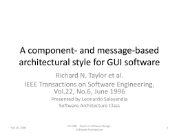 A component- and message-based architectural style …