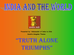 India - truth alone triumphs