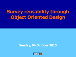 Survey reusability