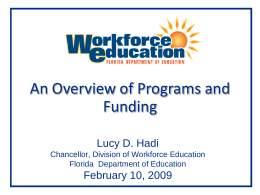 An Overview of Workforce Education
