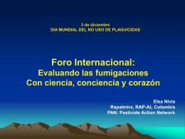 """Foro Regional: """"Las convenciones internacionales como"""