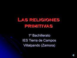 Las religiones primitivas