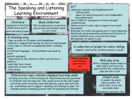 The Speaking and Listening Learning Environment