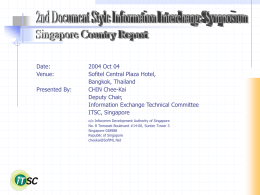 2nd Asian Document Style Information Interchange …