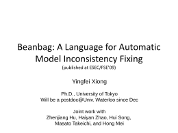 Supporting Automatic Model Inconsistency Fixing