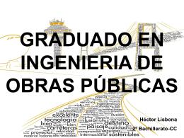 GRADUADO EN INGENIERIA DE OBRAS PUBLICAS