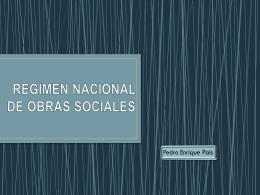 REGIMEN NACIONAL DE OBRAS SOCIALES
