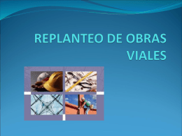 REPLANTEO DE OBRAS VIALES