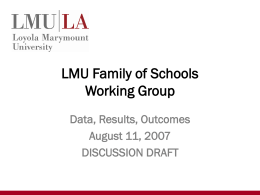 LMU Family of Schools Working Group