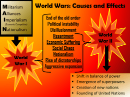 World Wars: Causes and Effects