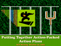 Creating Action-Packed Action Plans