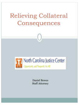Collateral Consequences of Criminal Convictions