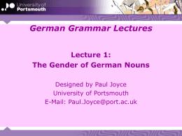 MLG 1001: Grammar Lectures