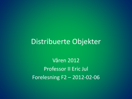 Distribuerte Objekter