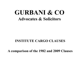 GURBANI & CO Advocates & Solicitors