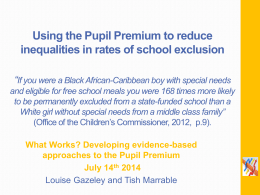 What can schools do to reduce exclusion? Insights into