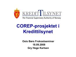 Rapportering under Basel II og IFRS