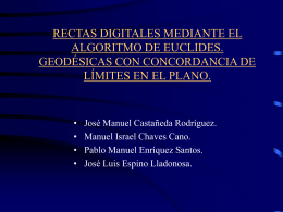Rectas digitales mediante el algoritmo de Euclides