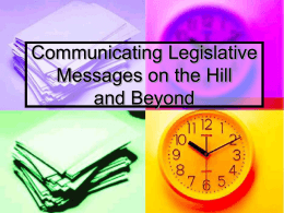 Communicating Legislative Messages