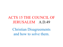 ACTS 15 THE COUNCIL OF JERUSALEM