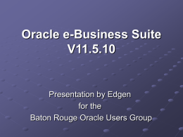 Oracle e-Business Suite V11.5.10