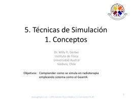 5. Tecnicas de Simulacion 1. Conceptos
