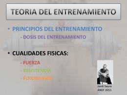 PRINCIPIOS DEL ENTRENAMIENTO - PRESENTACION