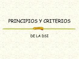 Principios y criterios - Dios camina con su pueblo