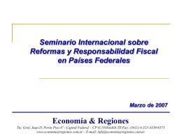 Seminario Internacional sobre Reformas y Responsabilidad