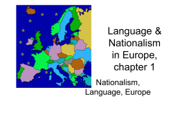 Language & Nationalism in Europe, chapter 1