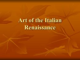 Italian Renaissance Masters - Online