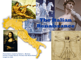 The Italian Renaissance - Historymartinez's Blog
