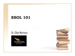 ESOL 101 - Towson University