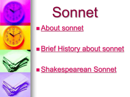 Introduction of sonnet