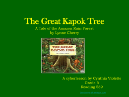 The Great Kapok Tree A Tal - Reading and Language Arts