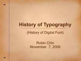 History of Typography - UCSB Computer Science …