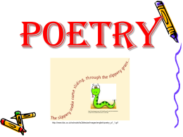 Poetry PowerPoint - School District of Bonduel