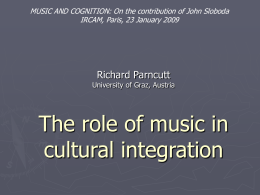 The role of music in cultural integration