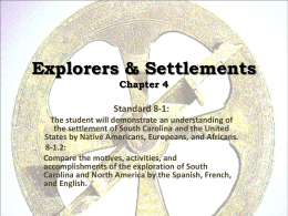 Explorers & Settlements Chapter 4