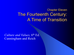 Chapter Eleven The Fourteenth Century: A Time of …